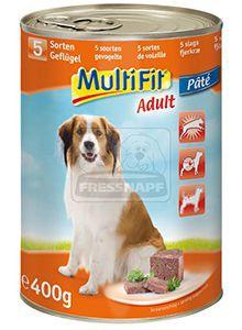 MultiFit kutyakonzerv 5féle szárnyassal 400g