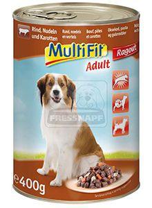 MultiFit kutyakonzerv marha+zöldség+tészta 400g