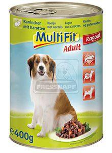 MultiFit kutyakonzerv ragu nyúl+répa 400g