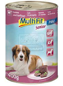 MultiFit senior kutyakonzerv bárány+szárnyas 400g