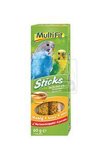 MultiFit Sticks törpepapagájoknak mézes 2x30g