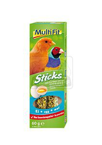 MultiFit Sticks kanáriknak és egzotikus madaraknak tojásos 2x30g