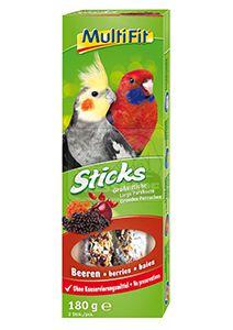 MultiFit Sticks papagájoknak bogyós 2x90g