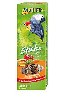 MultiFit Sticks papagájoknak zöldség+méz 2x90g