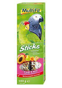 MultiFit Sticks papagájoknak gyümölcs+mogyoró 2x90g