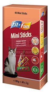 fit+fun mini sticks cicáknak négyféle ízben 40x2g