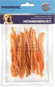 PREMIERE kutyasnack csirkemell csíkok 70g