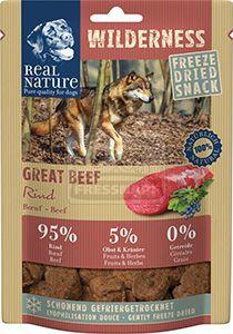 Real Nature Wilderness szárított snack kutyáknak – marha 50g