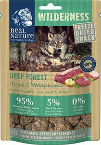 Real Nature Wilderness szárított snack kutyáknak – szarvas&vaddisznó 50g