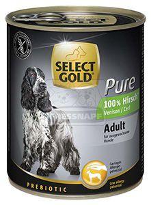 SELECT GOLD Pure kutyakonzerv szarvas 800g