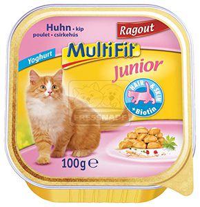 Multifit csirkeragu – junior cica tálkás eledel 100g