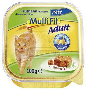 Multifit pulyka paté – cica tálkás eledel 100g