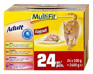 MultiFit Balanced ragu cica tasakos eledel multipack 24x100g