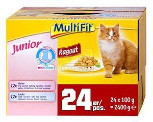 MultiFit ragu junior cica tasakos eledel multipack 24x100g