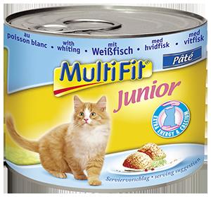MultiFit junior cicakonzerv halas 195g