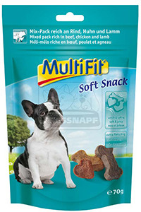 MultiFit Soft kutyasnack mix 70g