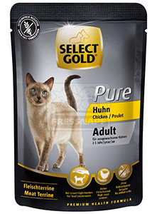 SELECT GOLD Pure cica tasakos eledel, csirke 85g