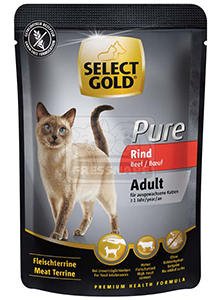 SELECT GOLD Pure cica tasakos eledel, marha 85g