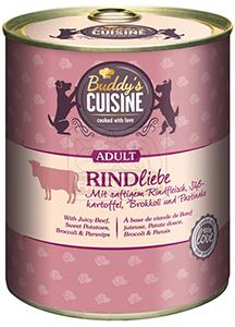 BUDDY'S kutyakonzerv marhahússal, édesburgonyával, brokkolival és pasztinákkal 800g