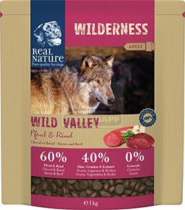 Real Nature Wilderness kutya szárazeledel ló és marha 1kg