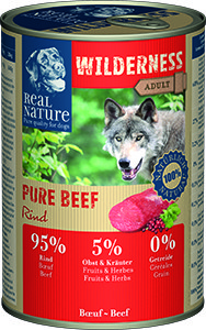 Real Nature Wilderness Pure kutyakonzerv marha 400g