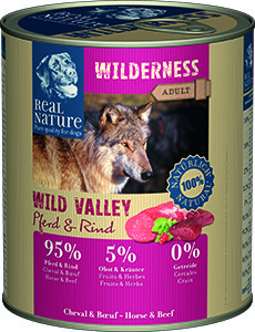 Real Nature Wilderness kutyakonzerv ló és marha 800g