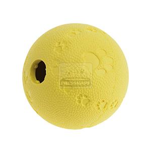 AniOne kutyajáték labda jutalomfalattal tölthető sárga 7cm