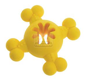 AniOne kutyajáték gumilabda csont formával sárga 12cm