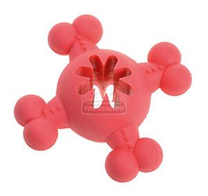 AniOne kutyajáték gumilabda csont formával pink 12cm