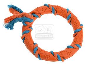 AniOne kutyajáték gumi gyűrű narancssárga színes 15cm