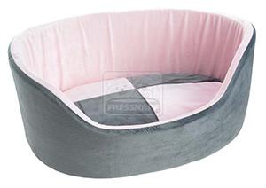 AniOne fekhely plüss pink szürke L 80x60x30cm