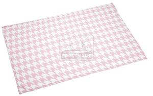 fit+fun takaró rózsaszín fehér 70x100cm