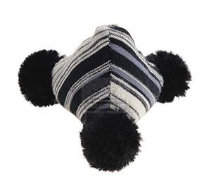 AniOne cicajáték tekercs pomponnal fekete-fehér 11cm