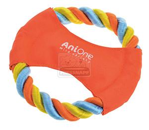 AniOne kutyajáték frizbi kötélből 16cm