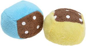AniOne cicajáték kocka plüss sárga kék színben 2db 5cm