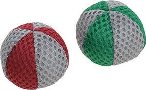 AniOne cicajáték labda nylon zöld piros színben 2db 5cm