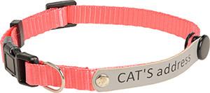 AniOne cica nyakörv címkével pink 19-30cm