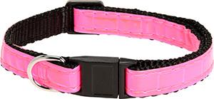 AniOne cica nyakörv fényvisszaverő pink 19-30cm