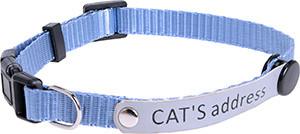 AniOne cica nyakörv címkével kék 19-30cm