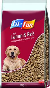 fit+fun kutya szárazeledel bárány és rizs 10kg
