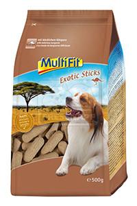 MultiFit Exotic sticks kutyáknak kenguruval 500g