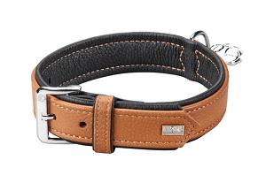 More For Dogs nyakörv Elegance szarvasbőrből barna 39-45cm
