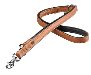 More For Dogs póráz Elegance szarvasbőrből barna M-XL 2m
