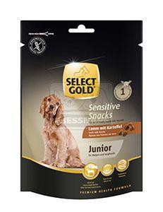 SELECT GOLD sensitive junior kutya jutalomfalat – bárány burgonyával 160g