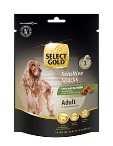 SELECT GOLD sensitive kutya jutalomfalat – kacsa burgonyával 160g