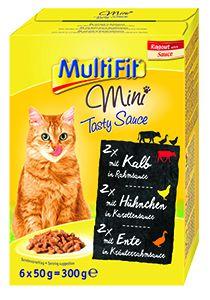 Multifit Mini cica tasakos eledel ízletes mártásban 6x50g