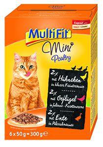 Multifit Mini cica tasakos eledel szárnyas 6x50g