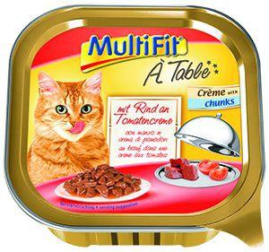 MultiFit cica tálkás eledel marha és paradicsom