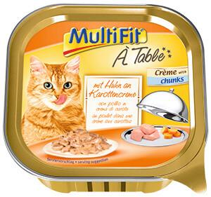 MultiFitcica tálkás eledel csirke&répa 100g
