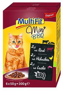 Multifit Mini cica tálkás eledel BBQ válogatás 6x50g